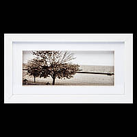 "Винтажная картина 18*33 B-78-32 ""Одинокое дерево"" (белый)"