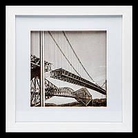 "Картина в ретро-стиле 28*28 B-79-02 ""Бруклинский мост"" (белый)"