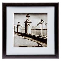 """Картина в винтажном стиле 28*28 B-79-08 """"На мосту"""" (черный)"""
