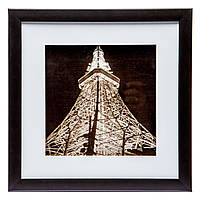 "Картина в стиле ретро 28*28 B-79-10 ""Эйфелева башня"" (черный)"