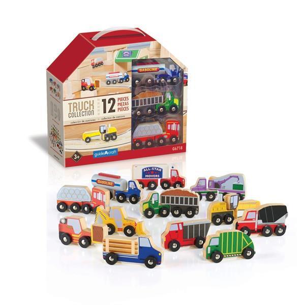Набор грузовиков Guidecraft Block Play к Дорожной системе, 12 шт. (G6718)