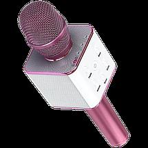 Беспроводной микрофон для караоке Q9 Розовый - портативный караоке-микрофон (b125), фото 3