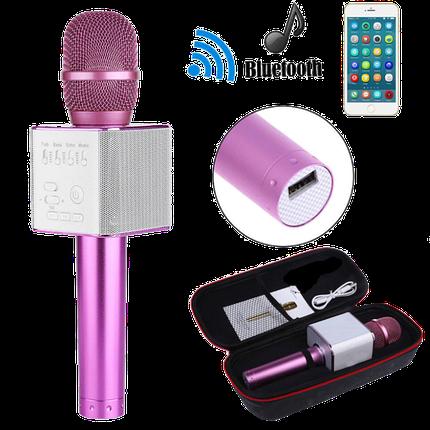 Беспроводной микрофон для караоке Q9 Розовый - портативный караоке-микрофон (b125), фото 2