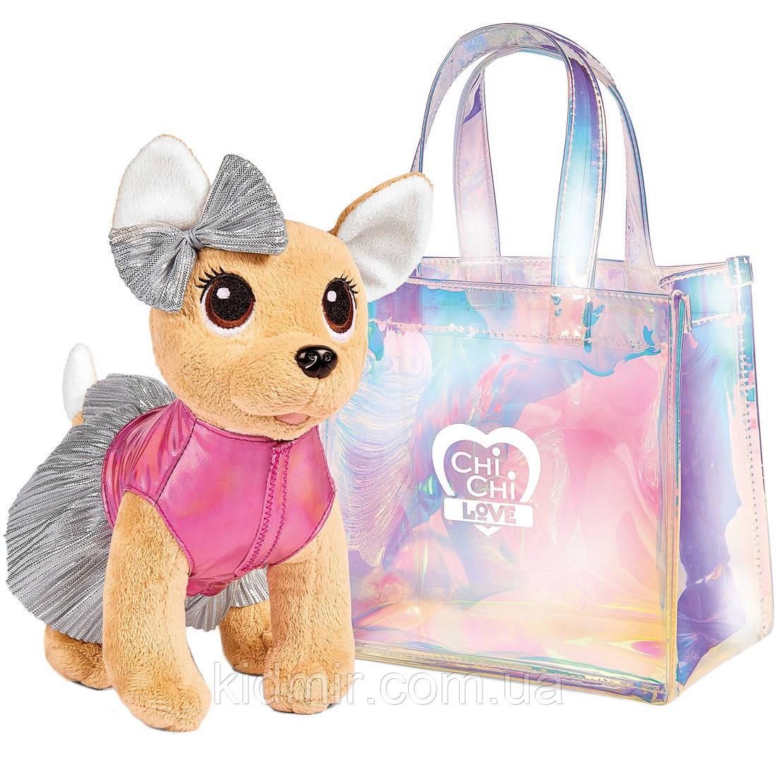 Собачка Chi Chi Love Чихуахуа Фешн Шиммер в сумочке и в платье Simba 5893432
