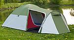 Палатка туристическая 4 местная с тамбуром Presto Monsun 4 зеленая