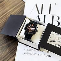 Мужские наручные часы с черным браслетом