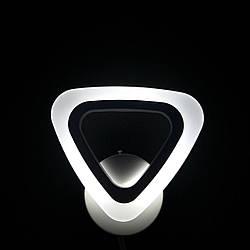 Бра настінне трикутник біле LED 20-LI8856/1B 12W WH