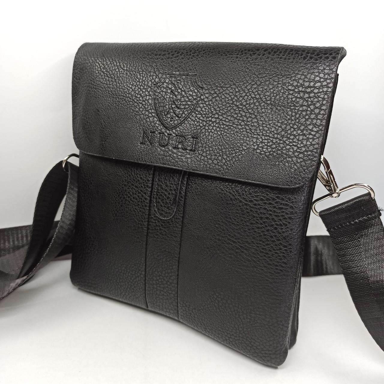 Мужская кожаная сумка планшет через плечо PUM006