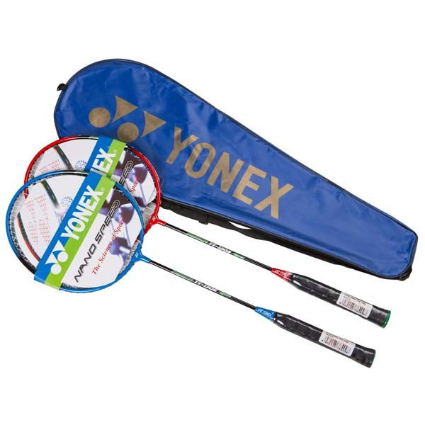 Ракетки для бадминтона Yonex  2 штуки в чехле + Воланчик в подарок
