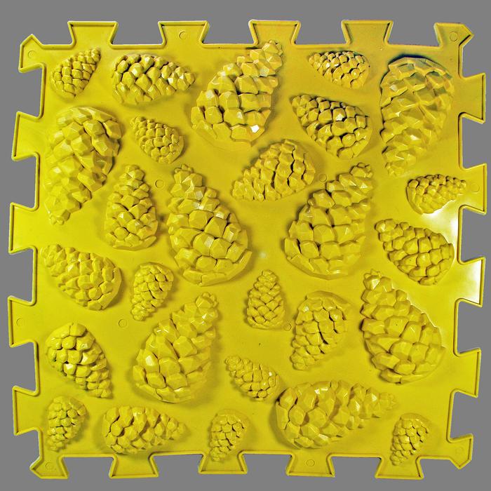Ортопедический массажный коврик Пазлы Микс Шишки 1 элемент