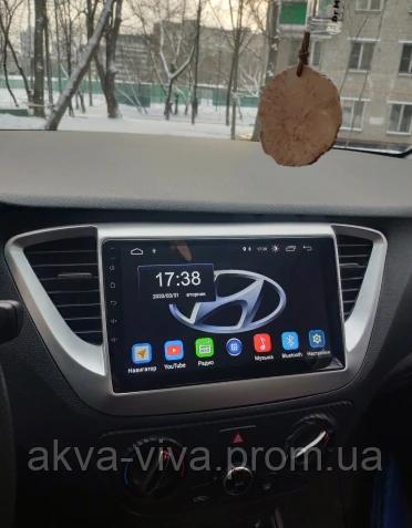 Штатная Магнитола Hyundai Accent 2017-2020 на базе Android 8.1 Экран 9 дюймов (М-ХВн-9)