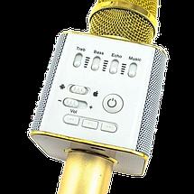 Беспроводной микрофон для караоке Q9 Золотой - портативный караоке-микрофон в Чехле (b154), фото 3