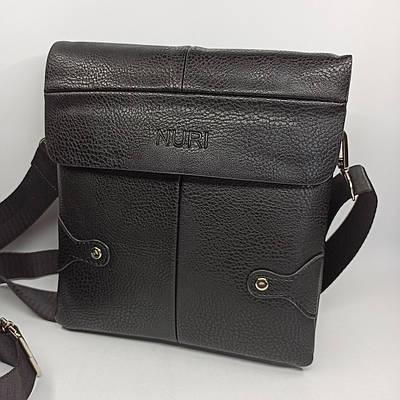Мужская кожаная сумка планшет через плечо PUM009