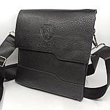 Шкіряна чоловіча сумка через плече / Мужская кожаная сумка через плечо PUM010, фото 2