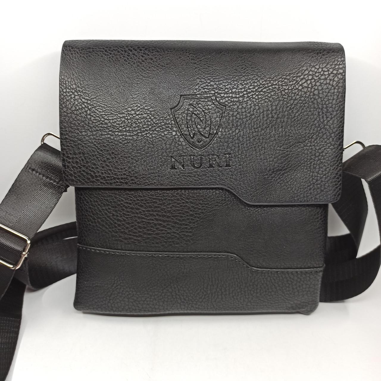 Шкіряна чоловіча сумка через плече / Мужская кожаная сумка через плечо PUM010
