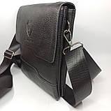 Шкіряна чоловіча сумка через плече / Мужская кожаная сумка через плечо PUM010, фото 3