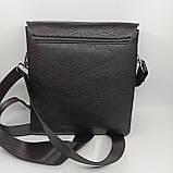Шкіряна чоловіча сумка через плече / Мужская кожаная сумка через плечо PUM010, фото 4