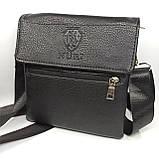 Шкіряна чоловіча сумка через плече / Мужская кожаная сумка через плечо PUM012, фото 2