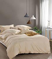 Комплект постельного белья Bella Villa сатин Евро кремовый