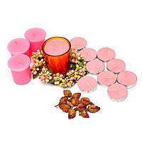 Свечи подарочные розовые 12 шт SBB-9-2