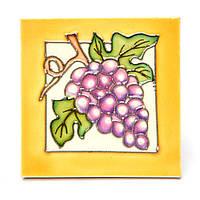 """Картина из керамической плитки №1-14 квадратная """"Гроздь винограда"""""""
