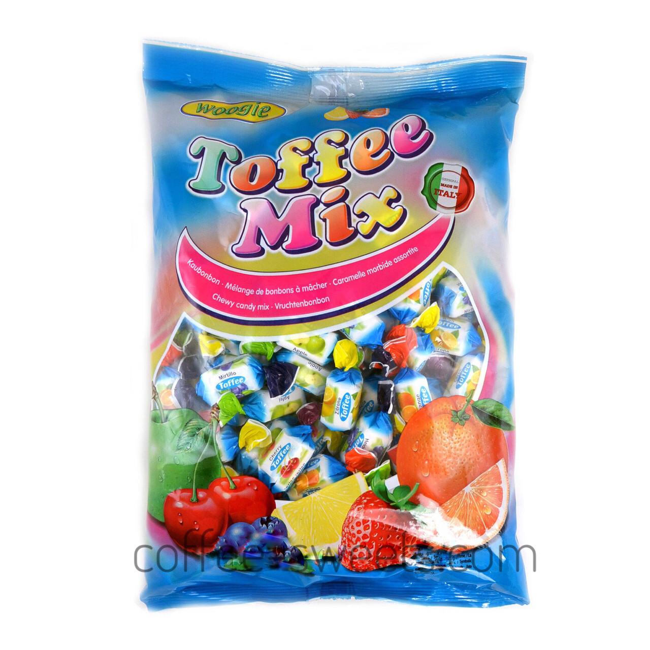 Конфеты жевательные фруктовый микс Woogie Toffee Mix 250g