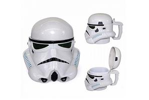 Чашка Кружка Бокал Пластиковая Star Wars 3D Plastic Штурмовик (Белая)