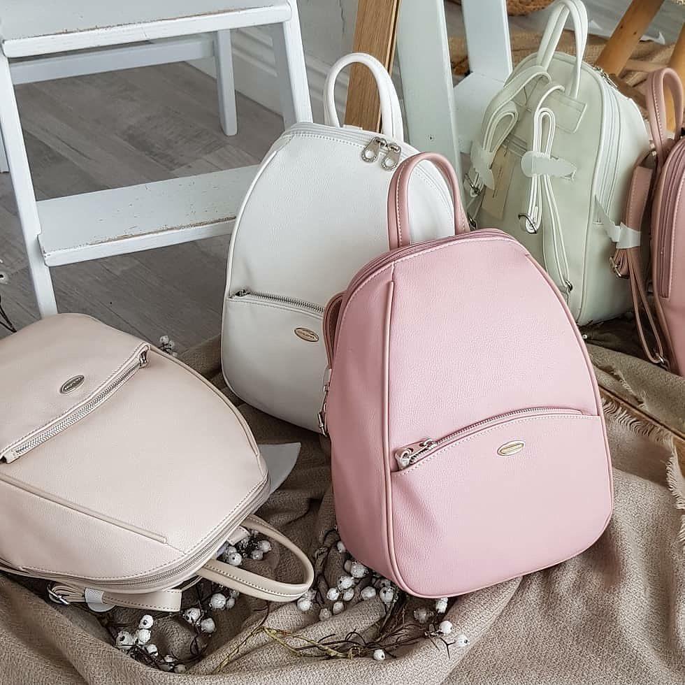 Классический женский рюкзак David Jones, городской розовый / жіночий рюкзак рожевий