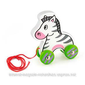Каталка Viga Toys Зебра с веревочкой (50093), фото 2