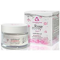 Крем для лица дневной с маслом розы и экстрактом ягод годжи Rose Berry Nature 50 мл Rose Of Bulgaria