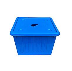 Ящик пластиковый с крышкой для игрушек Алеана СИНИЙ 25л