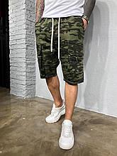 Мужские джинсовые шорты летние камуфляжные