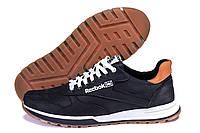 Кожаные мужские кроссовки черного цвета  Reebok Classic Leather Trail  Black (реплика), фото 1