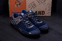 Замшеві чоловічі кросівки темно сині, фото 1