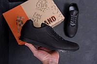 Мужские кроссовки черные в натуральной коже, фото 1