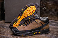 Зимние мужские кожаные полуботинки бежевые из кожи, фото 1