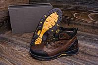 Зимние мужские кожаные ботинки коричневого цвета Jack Wolfskin (реплика), фото 1