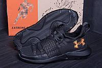 Стильные и модные мужские кроссовки в черном цвете, фото 1
