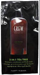 Средство по уходу за волосами и телом 3-в-1 American Crew Classic Tea Tree 7,4 мл