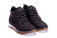 Мужские ботинки коричневого цвета из натуральной замши