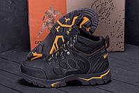 Зимние мужские сапоги на толстой подошве со шнуровкой, фото 1