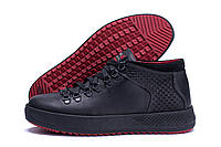 Мужские ботинки черного цвета на шнуровке из натуральной кожи, фото 1