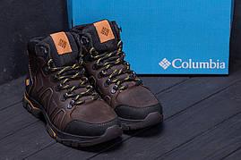 Мужские зимние кожаные ботинки на утолщенной подошве