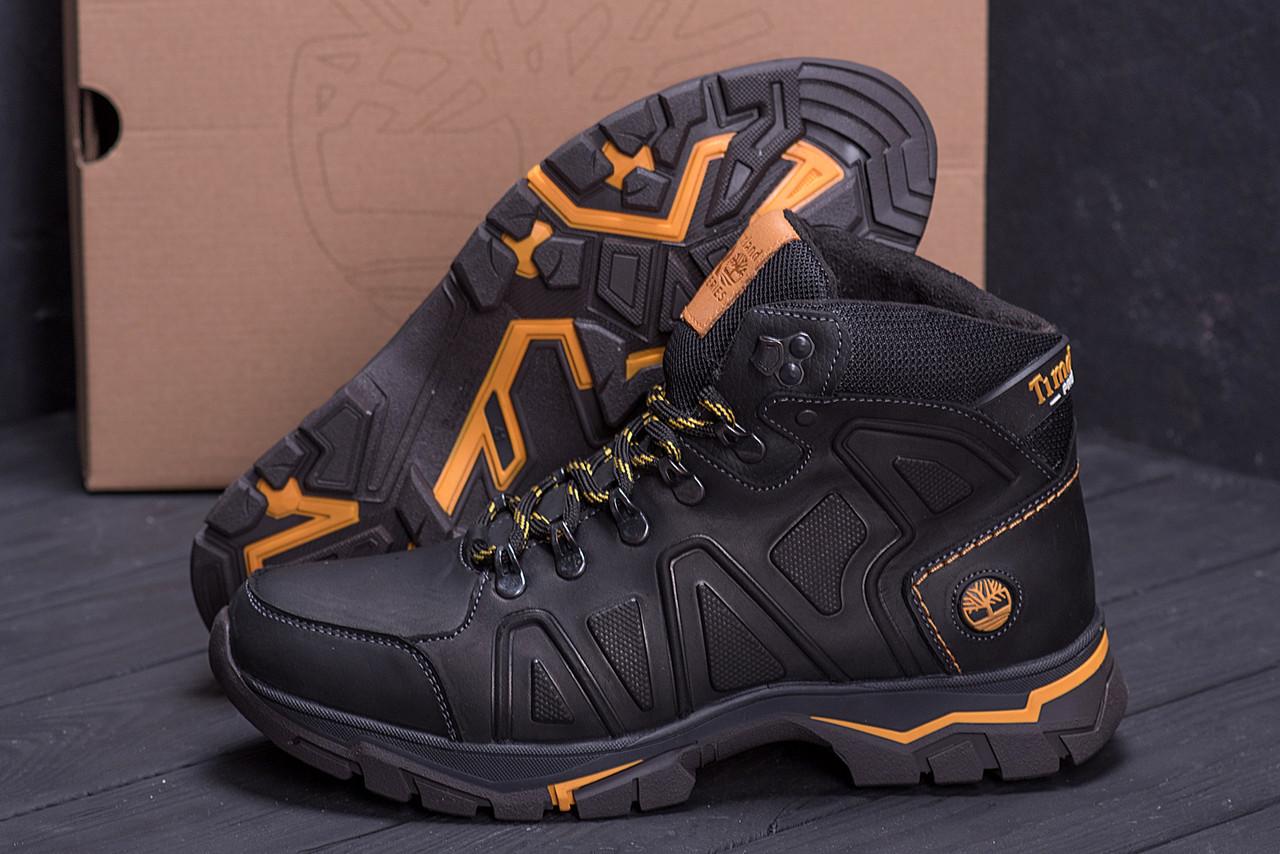 Высокие мужские ботинки зимние из натуральной кожи набивная шерстьTimderland (реплика)