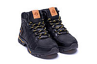 Мужские зимние сапоги на шнуровке с оранжевой шнуровкой, фото 1