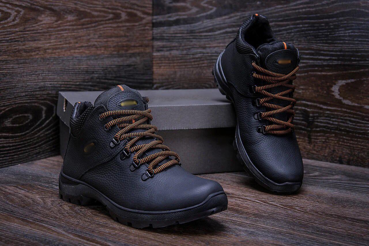 Зимние мужские ботинки из высококачественной кожи