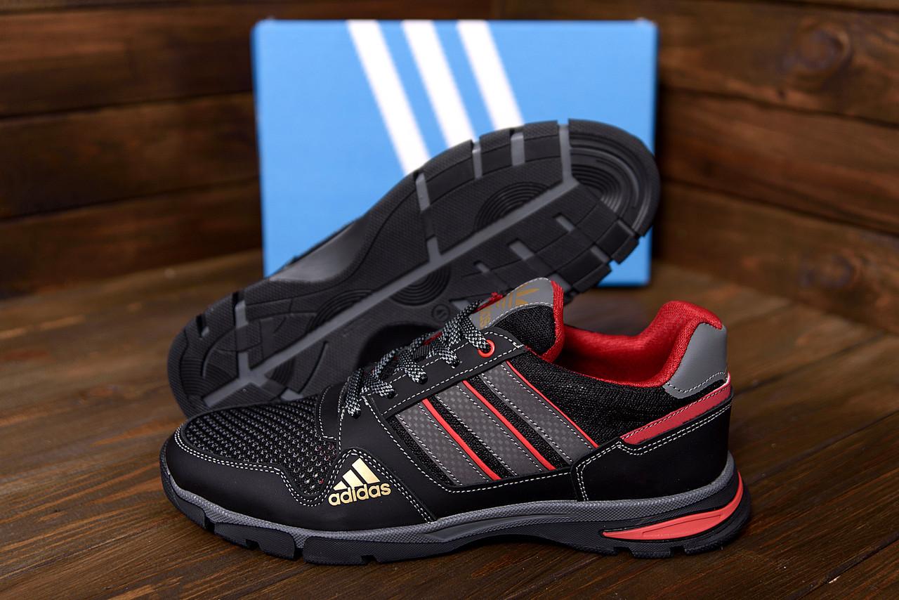 Мужские кроссовки Adidas (реплика), кожаные  мужские кроссовки