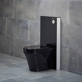 Стеклянная инсталляция для напольных унитазов Lemas EVB3294 Black