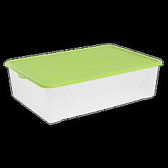 Ящик пластиковий для зберігання речей з кришкою Алеана 22л