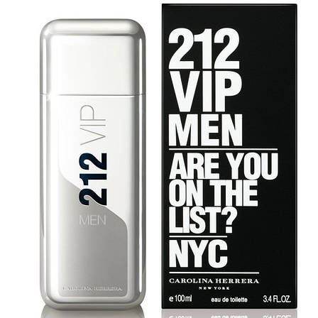 Carolina Herrera 212 VIP Men Туалетная вода EDT 100ml (Каролина Херера Эрерра 212 Вип Мужской) Парфюм Духи EDP, фото 2